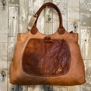 NWT Costanza Rota Distressed Italian Leather Bag